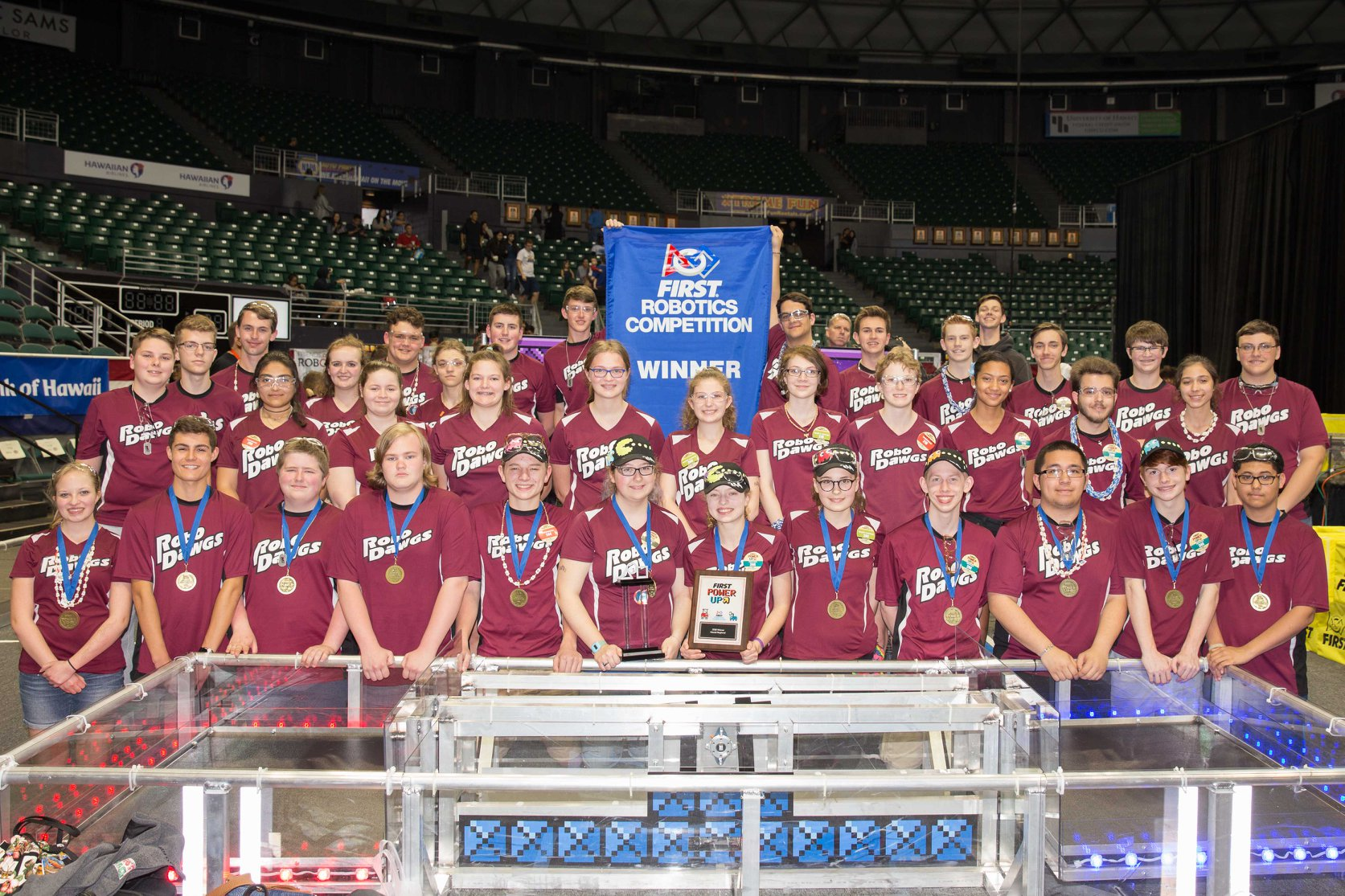 RoboDawgs win at Hawaii FRC tournament in March 2018!