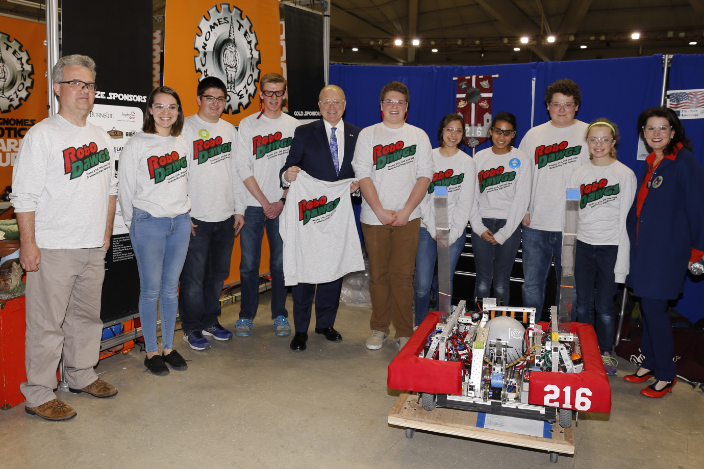 Meeting US Ambassador to Canada in Calgary at FRC Western Regional Championship.